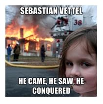 Vettel Conquered